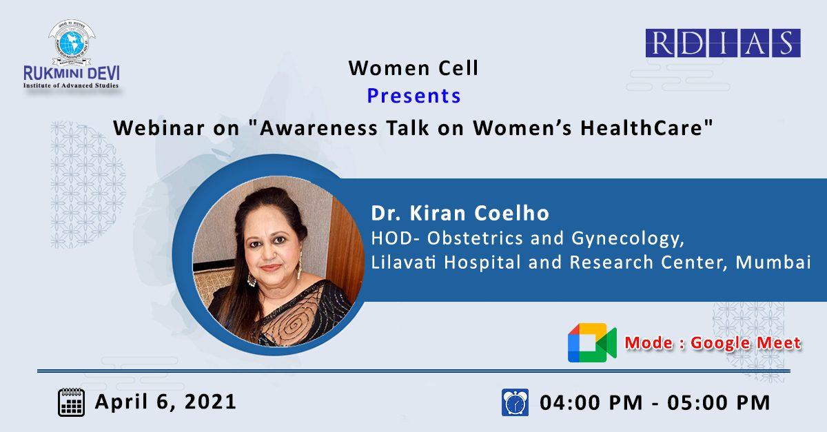Webinar on Awareness Talk on Womens HealthCare -April 6 2021